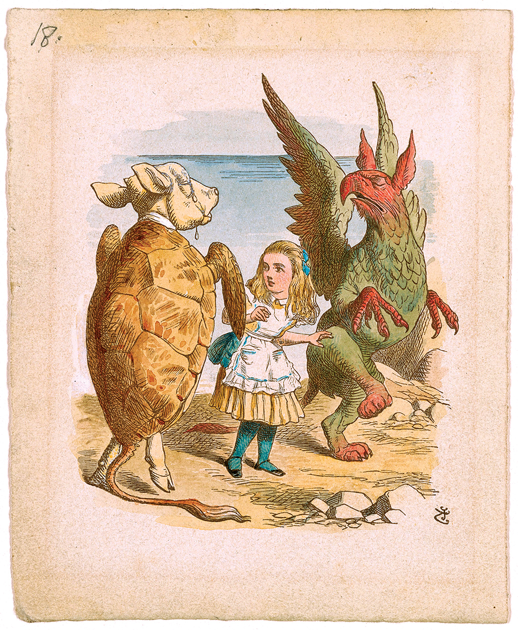 Illustration by John Tenniel for 'Alice's Adventures in Wonderland' by Lewis Carroll