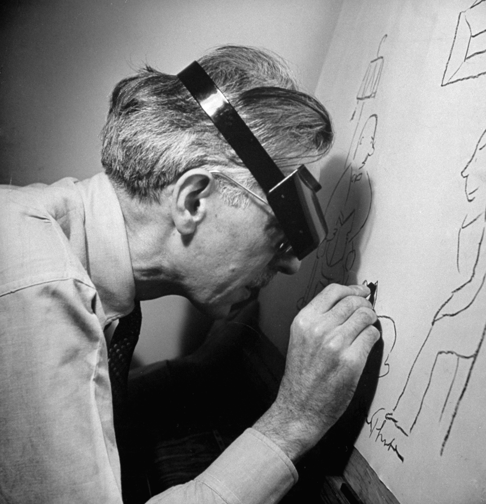 James Thurber drawing