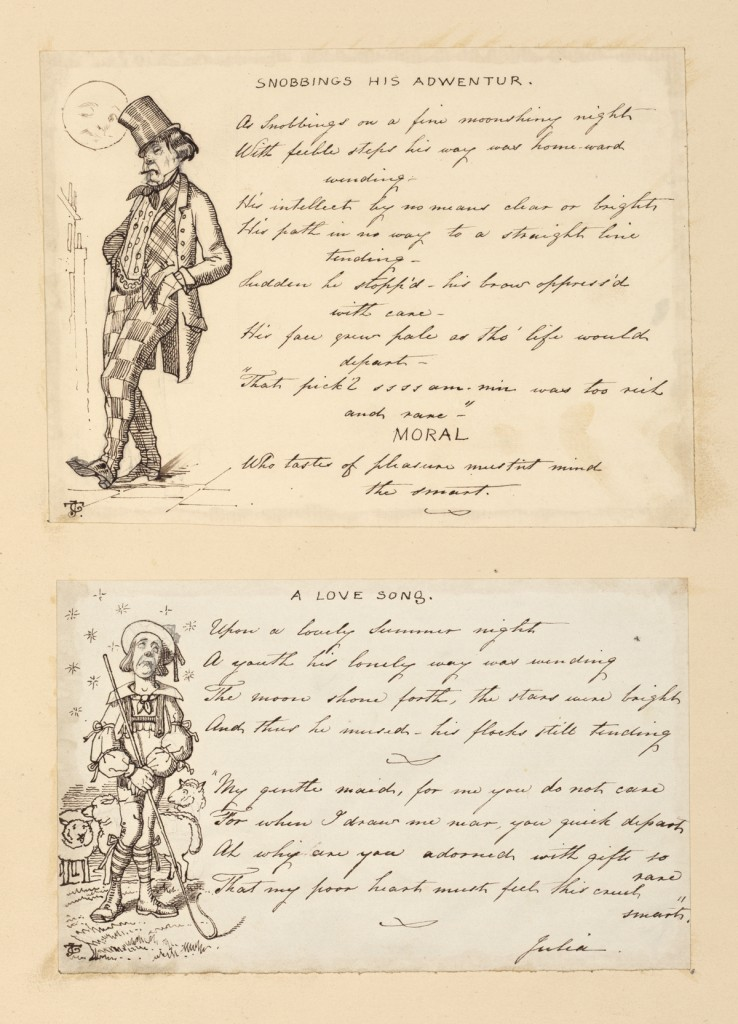 Comic drawings and poems by John Tenniel