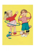 Mabel Lucie Attwell Children With Hula Hoops