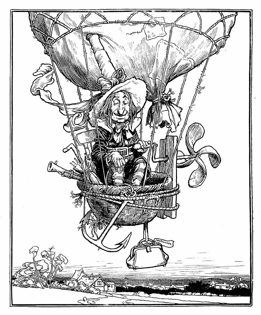Illustration from 'Uncle Lubin' by W. Heath Robinson