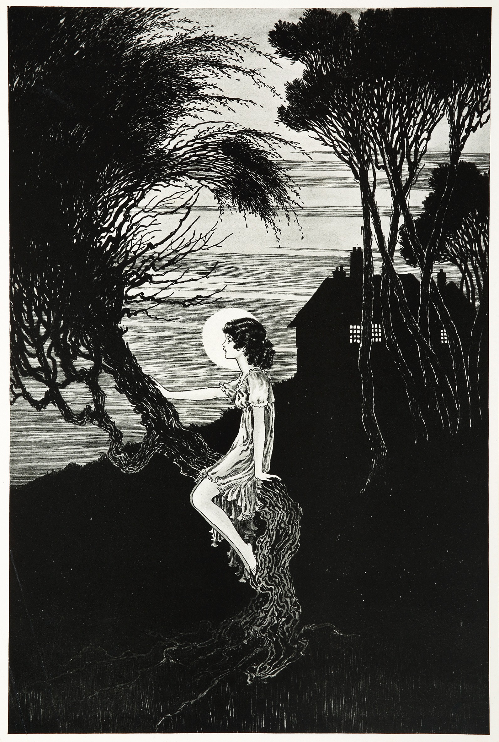 Pen and Ink Illustration by Ida Rentoul Outhwaite