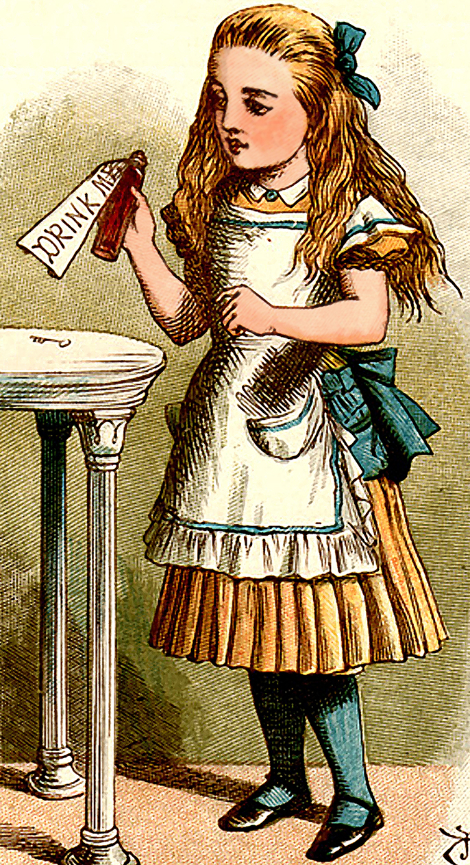 Illustration by John Tenniel  for 'Alice's Adventures Underground'
