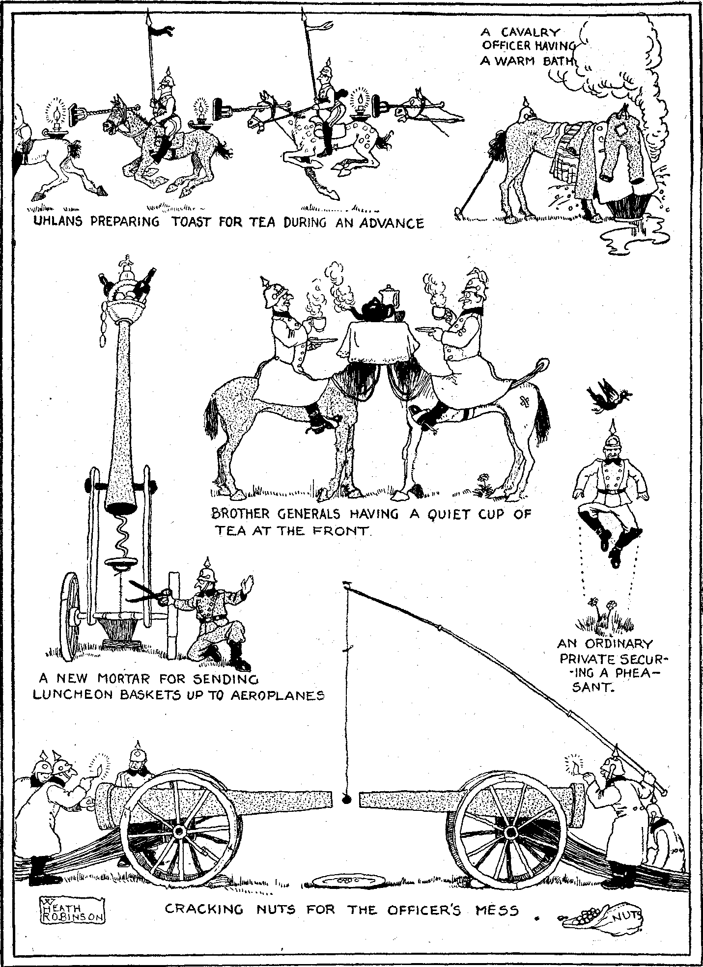 Cartoon of WWI by W. Heath Robinson