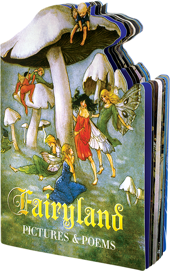 "A Laughing Elephant book entitled ""Fairyland,"" containing illustrations by Warwick Goble, Arthur Rac"