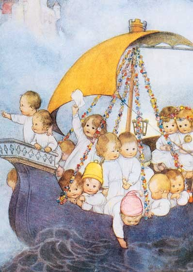 Mabel Lucie Attwell Babies on Sailboat