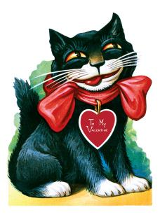 Smiling Cat Valentine (Classic Valentine's Day Greeting Cards)