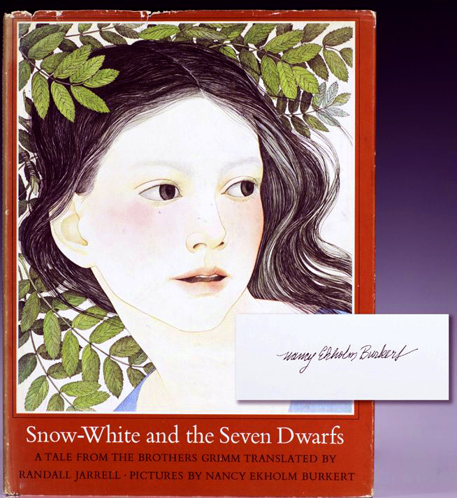 Cover Illustration by Nancy Ekholm Burkert for 'Snow White'