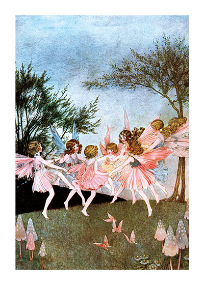 Fairy Dance, Illustration by Ida Rentoul Outhwaite  From our _Fairies_ Art Print Portfolio