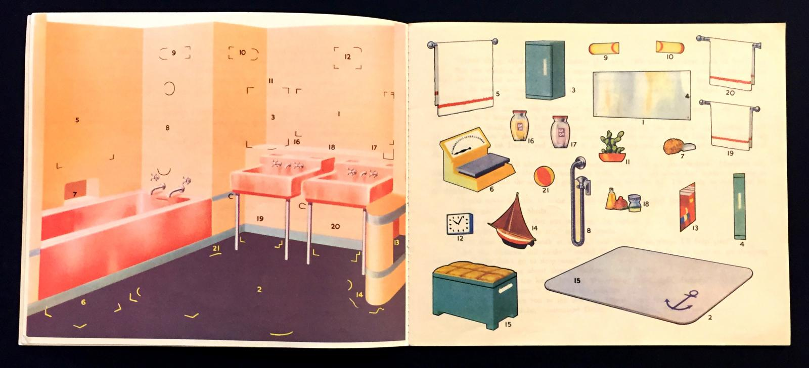 "Interior pages of ""My Model House"""