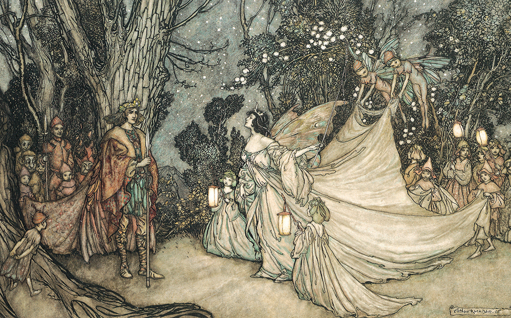 Oberon and Titania by Arthur Packham