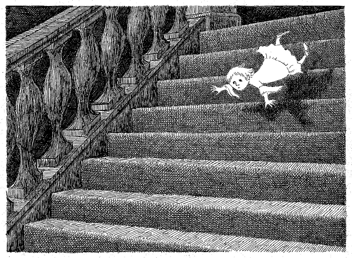 A is for Amy, who fell down the stairs ; The Gashlycrumb Tinies