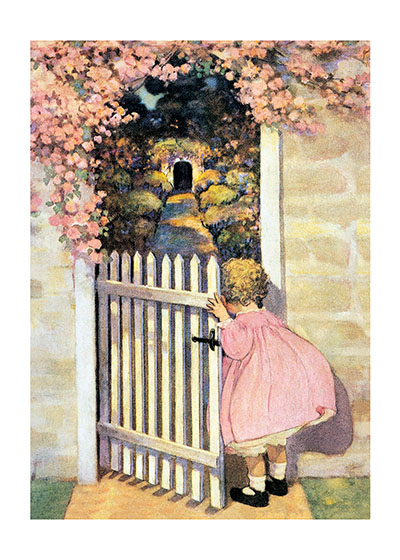 Cover Illustration by Jessie Willcox Smith for the Spring Issue of a Vintage Magazine