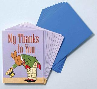 Bowing Bunny - Box (Packaged and Boxed Thank You Greeting Cards)