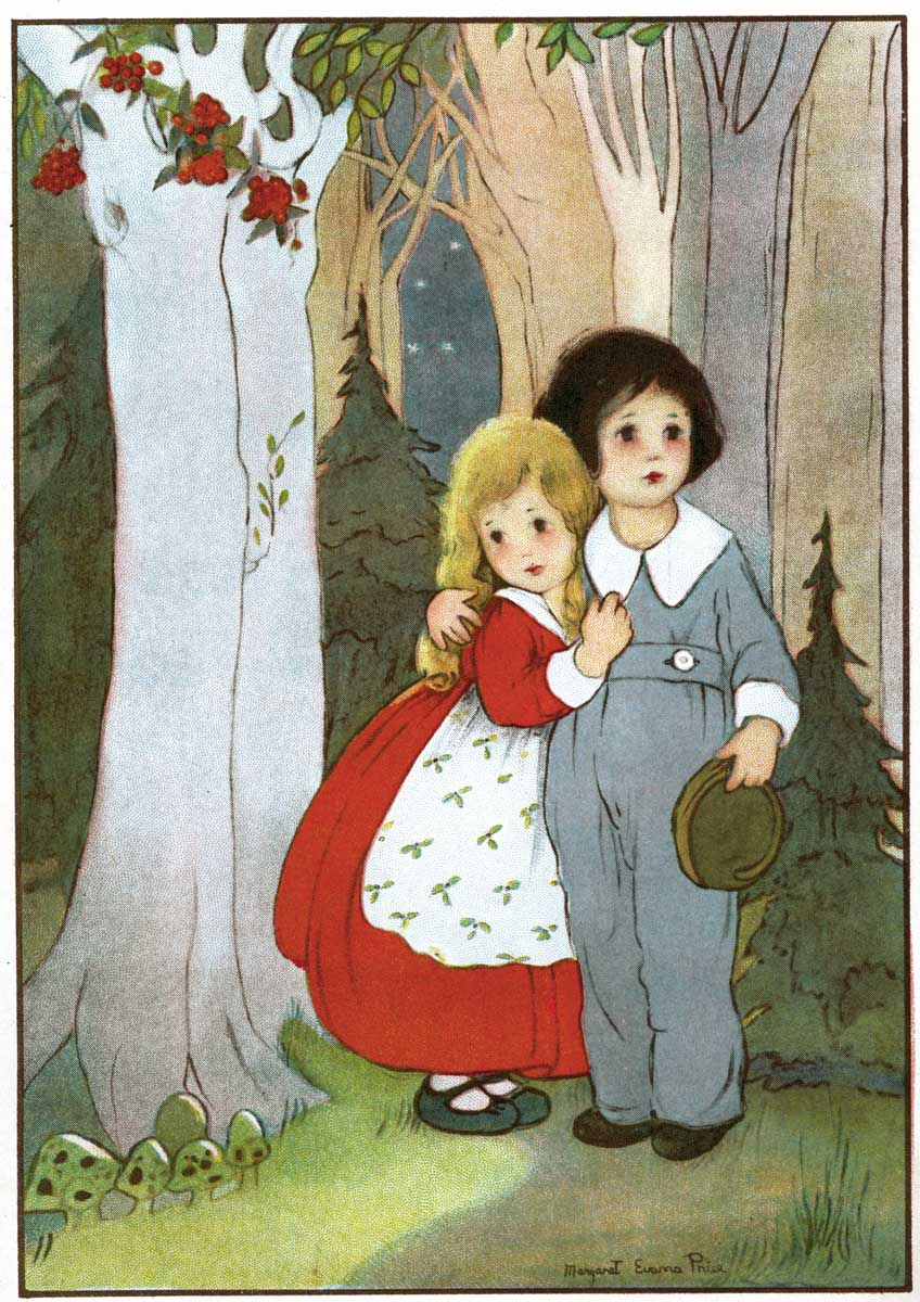 """""""Hansel and Gretel"""" illustrated by Gladys Hall"""