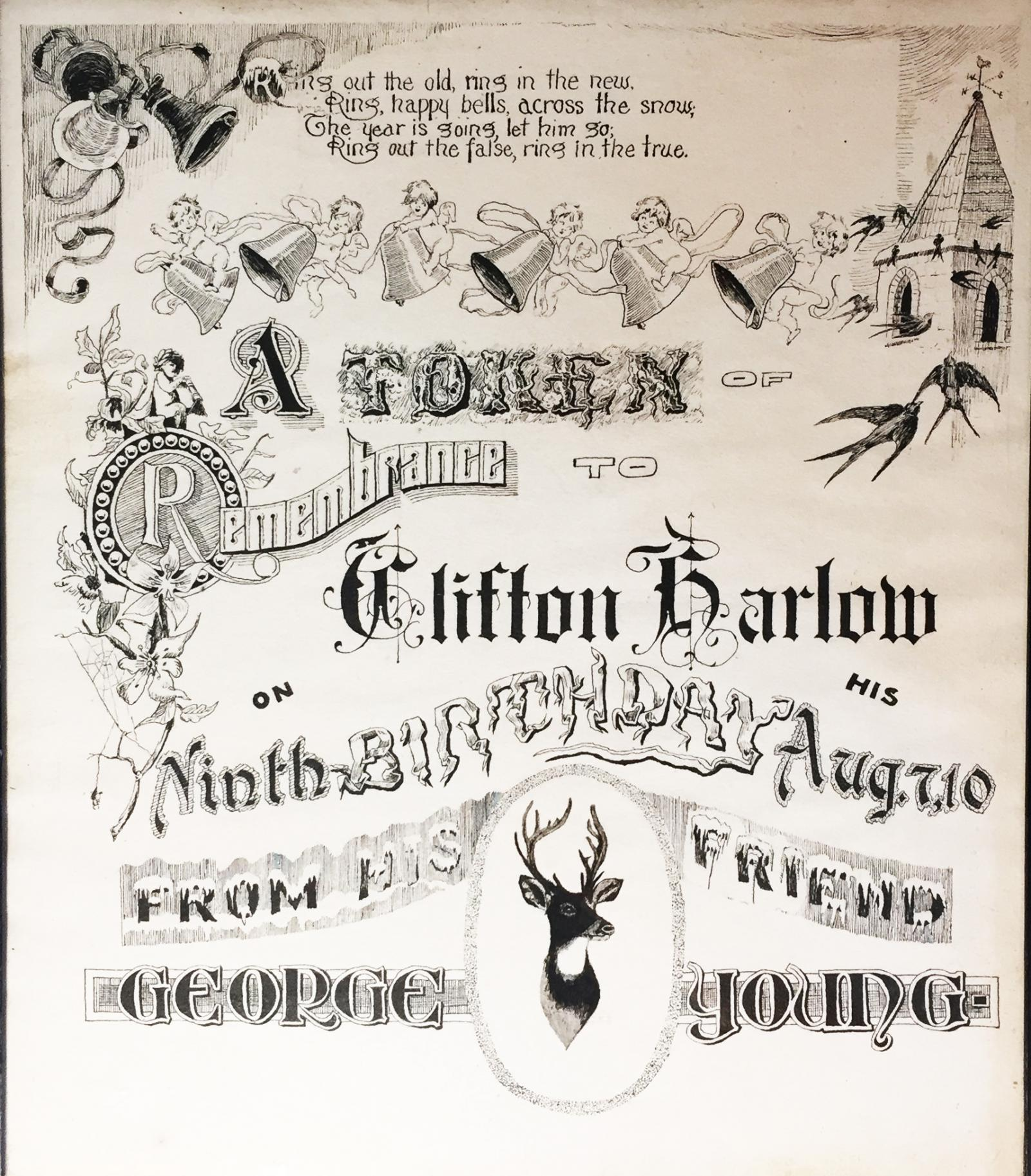 A remarkable piece of hand lettering and decoration