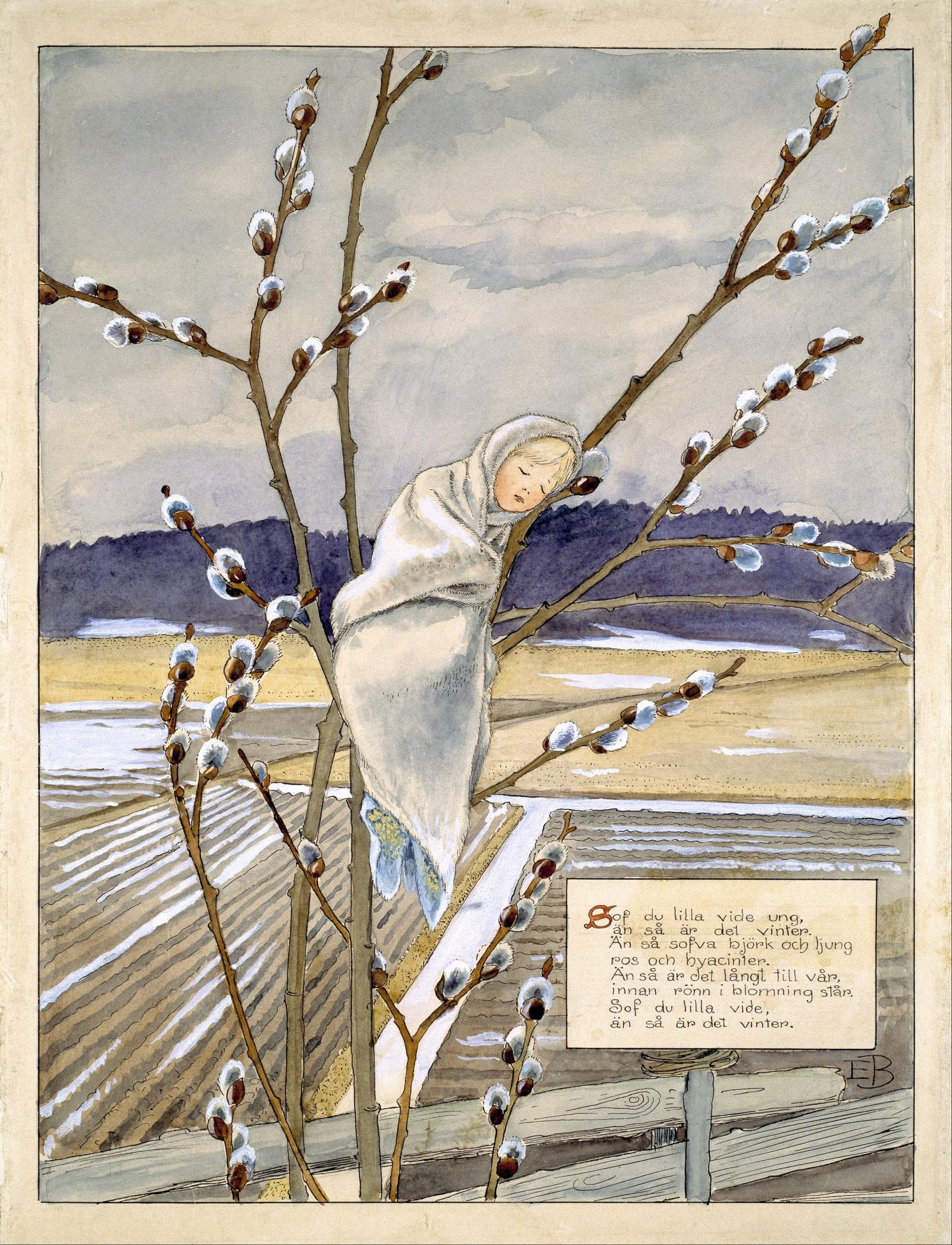 Elsa Beskow Pussy Willow Child