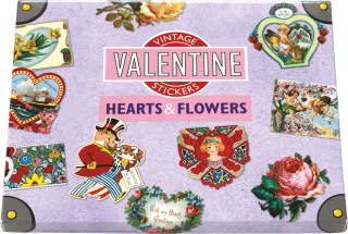 Hearts and Flowers Sticker Box (Holiday Stickers)