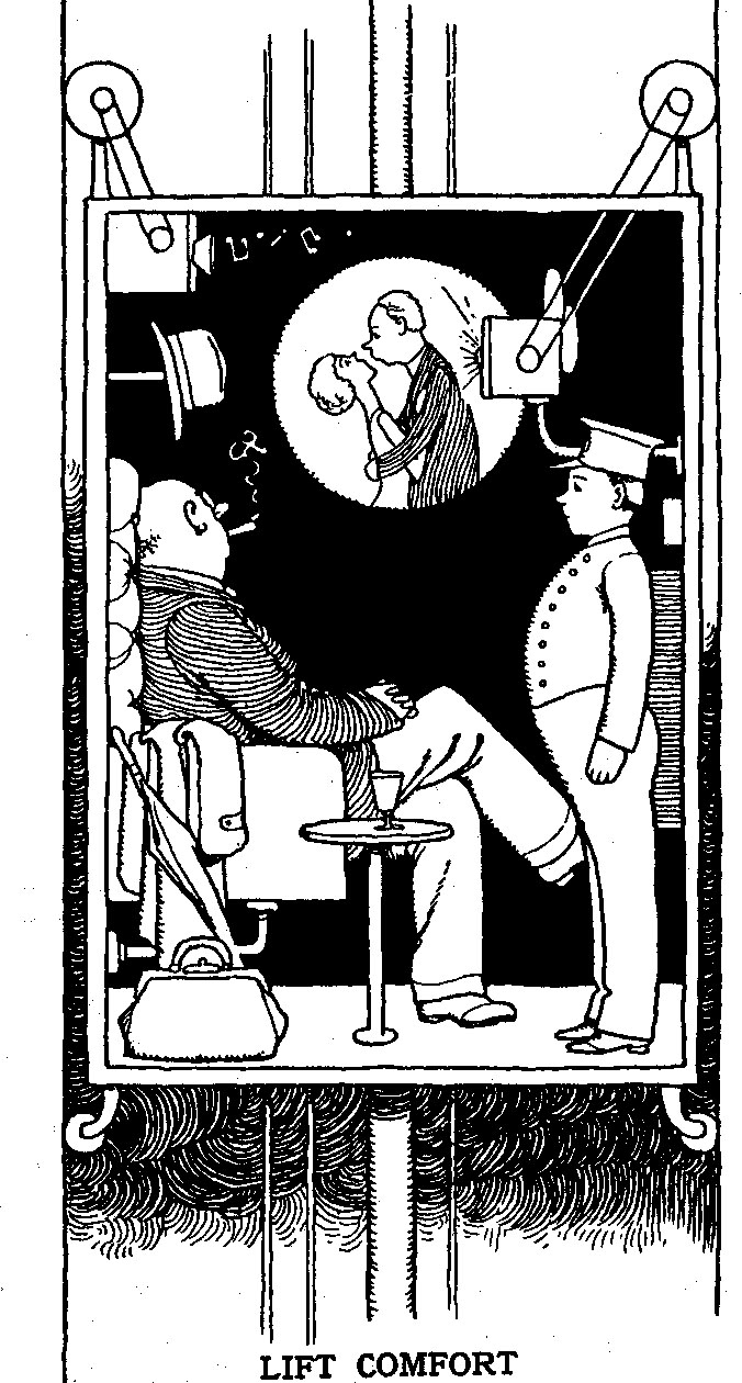 "From ""How to Live in a Flat' by W. Heath Robinson"