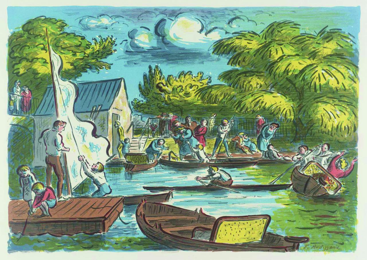 Boating Pond, illustrated by Edward Ardizzone