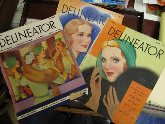 Three covers from 1930's magazine, Delineator