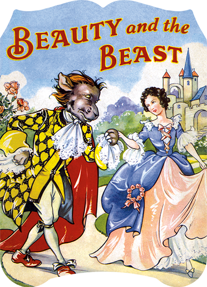 """Laughing Elephant's version of """"Beauty and the Beast"""" with illustrations by René Cloke. See the book"""