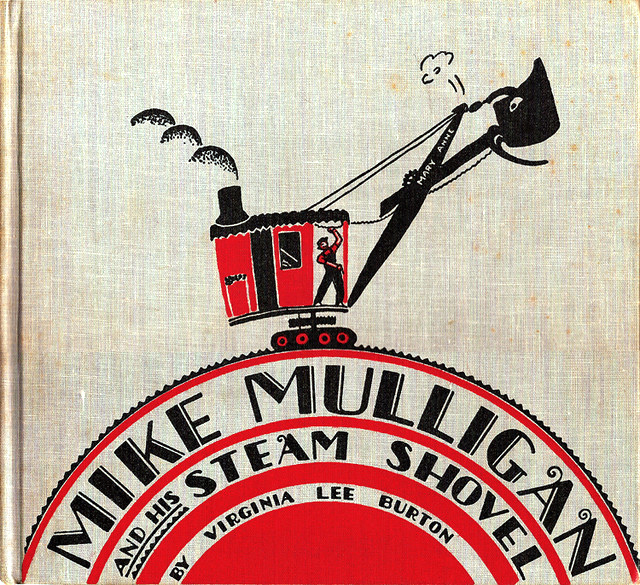 """Mike Mulligan and His Steam Shovel"" illustration by Virginia Lee"