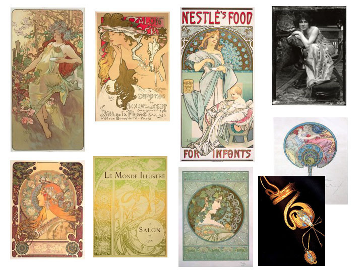 Mucha work from the late 1890s