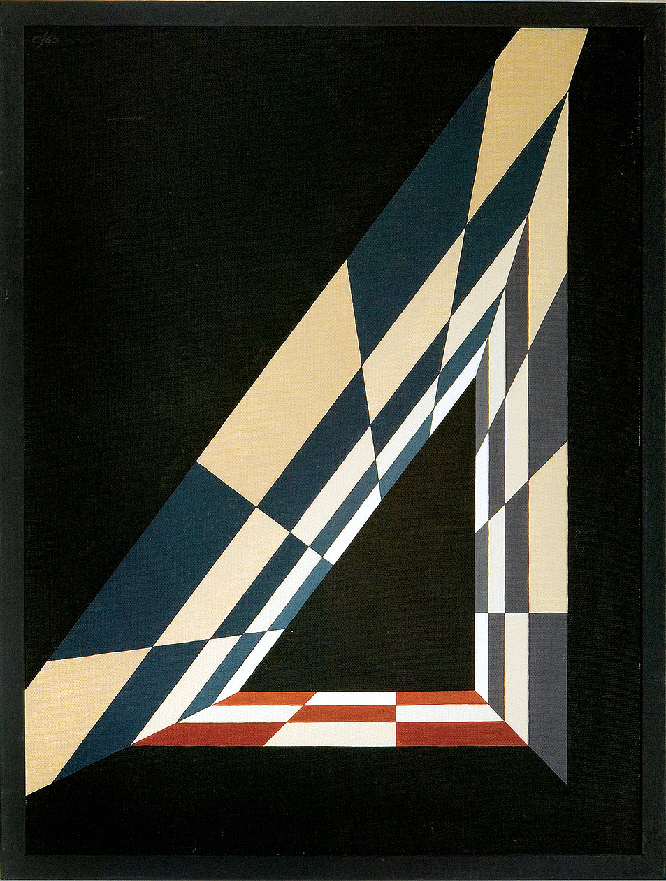 'Squares of a 3-4-5 triangle', oil on canvas, 1965 by Crockett Johnson