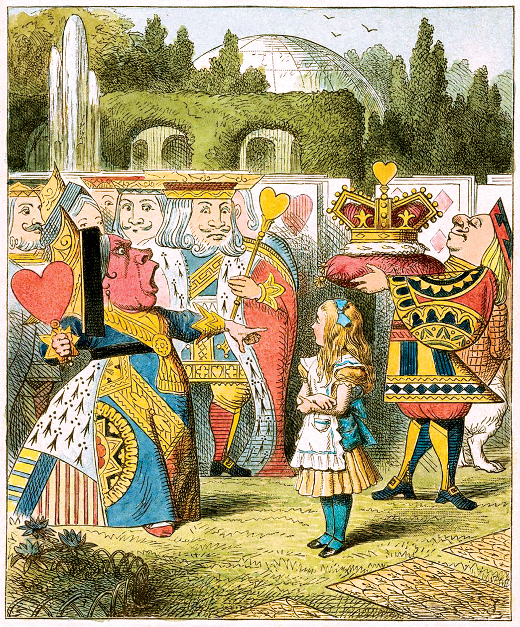Illustration by John Tenniel for 'Alice's Adventures in Wonderland by Lewis Carroll