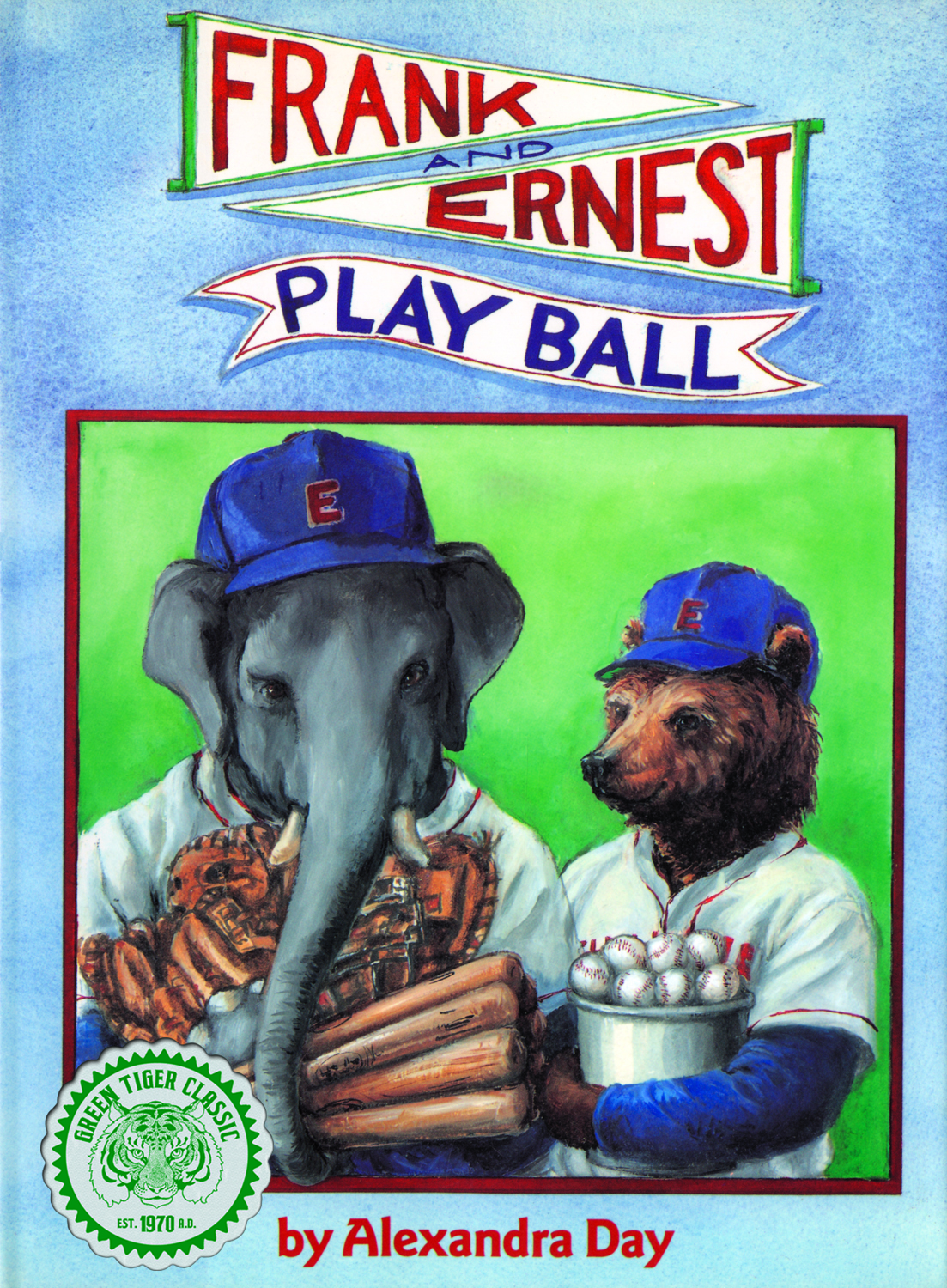 """Frank and Ernest Play Ball"" Cover by Alexandra Day"