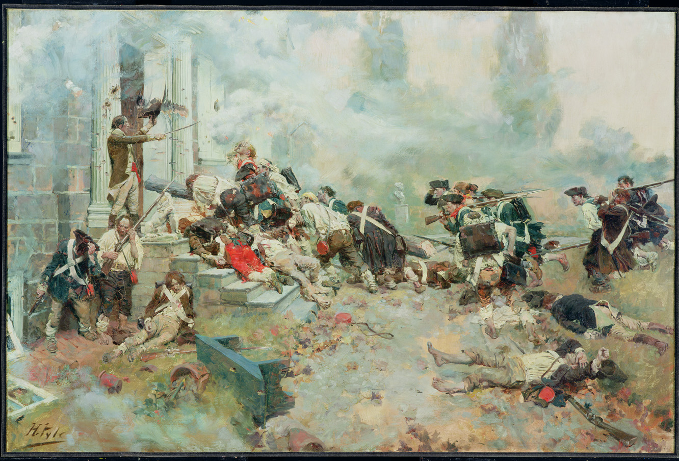 Battle of Chew House, mural by Howard Pyle