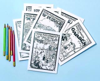 Puzzlemaker Cards to Color (Cards to Color Packaged and Boxed Greeting Cards)