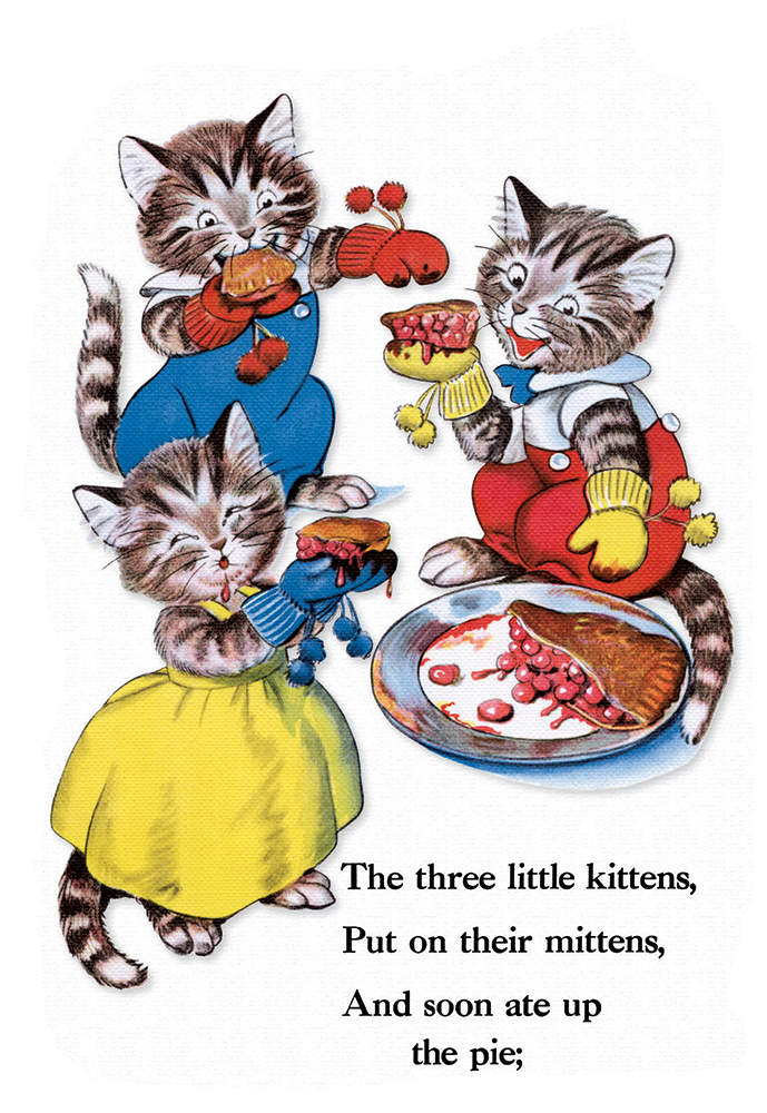 "Illustration for ""The Three Little Kittens"" by Milo Winter"