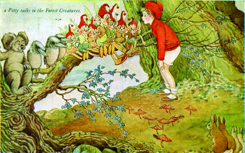 'Potty talks to the Forest Creatures', by Ida Rentoul Outhwaite