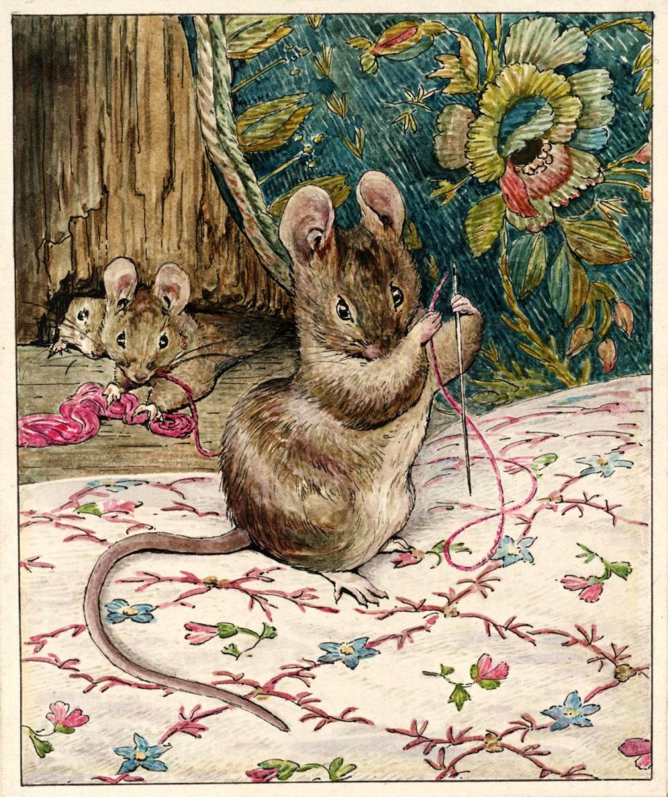 Illustration from 'The Tailor of Gloucester' by Beatrix Potter