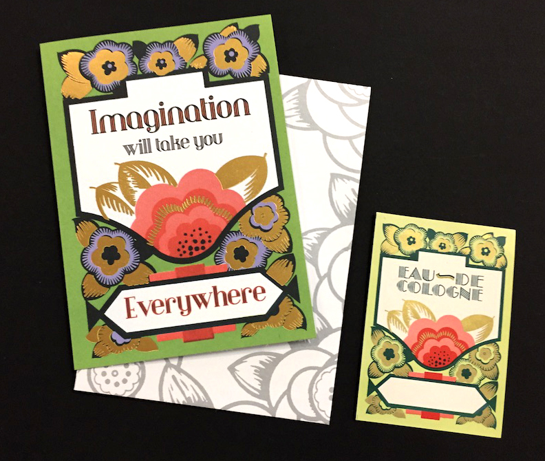 Laughing Elephant Inspiration Greeting Card and Original Perfume Label  (Buy the card> (a https://la