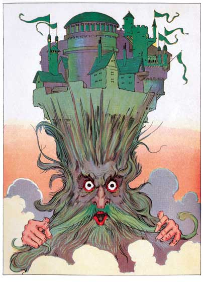 An illustration from 'Kabumpo in Oz', by John R. Neill, used on the cover of 'Weird and Wonderful,'