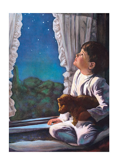 A Little Boy Wishing on a Star  Buy the Card >