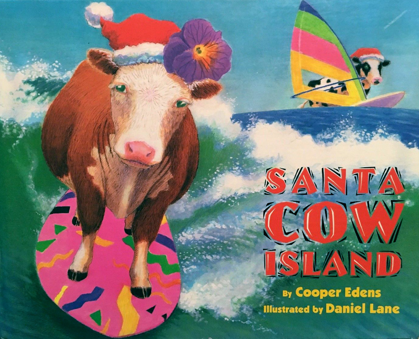 "On of the popular ""Santa Cow"" Books, by Cooper Edens"