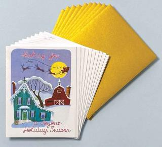 Night Flight - Box (Packaged and Boxed Christmas Greeting Cards)