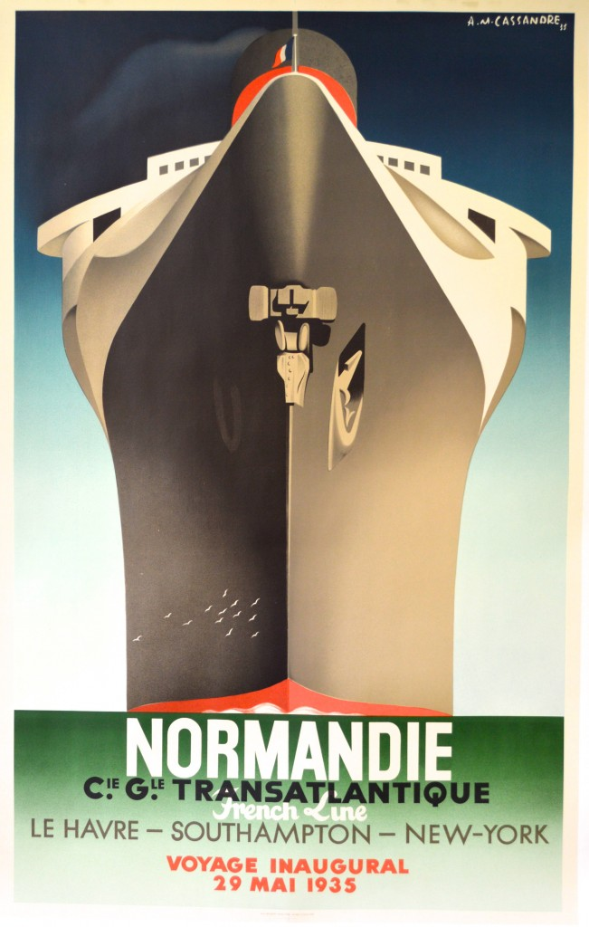 Poster for the Normandie Steamship, by A.M.Cassandre