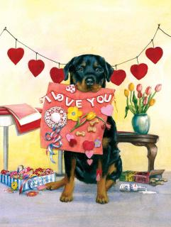 Good Dog Carl's Valentine (Signed) (Good Dog, Carl Art Prints)