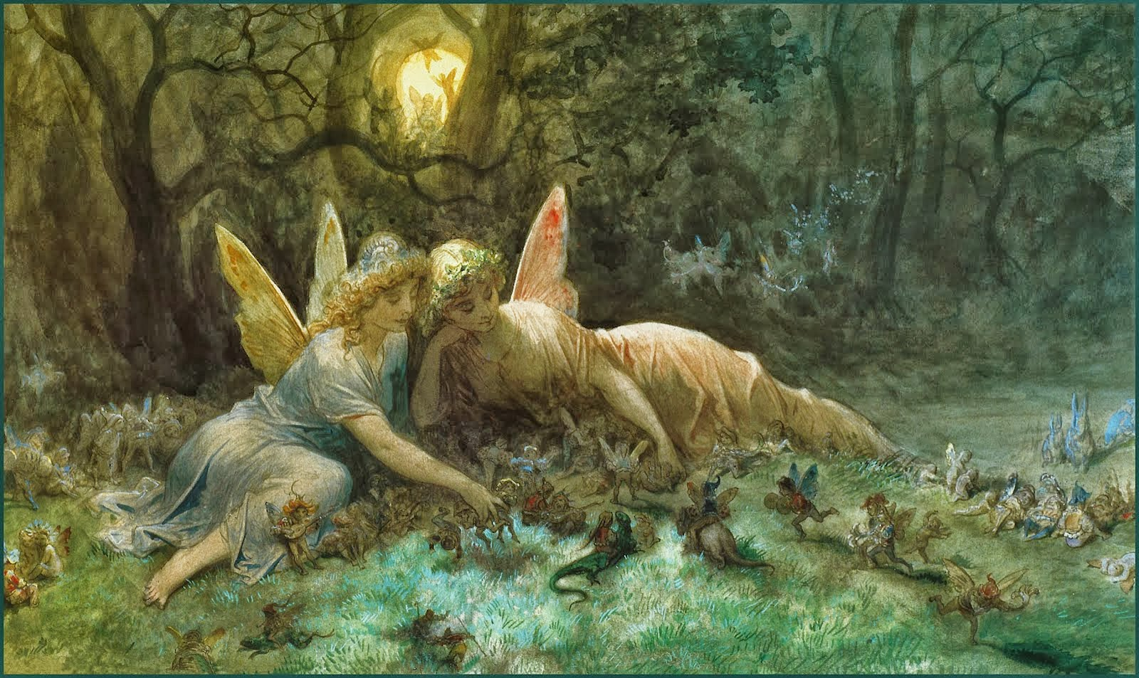 The Fairies, oil painting by Gustave Doré