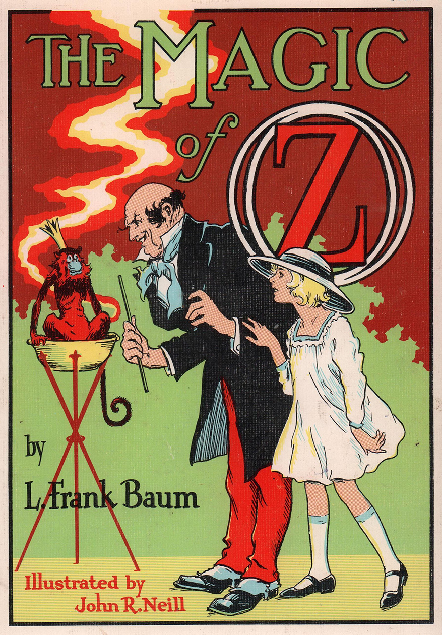 "Cover of the Magic of Oz"" (1919) Illustrated by John R. Neill"