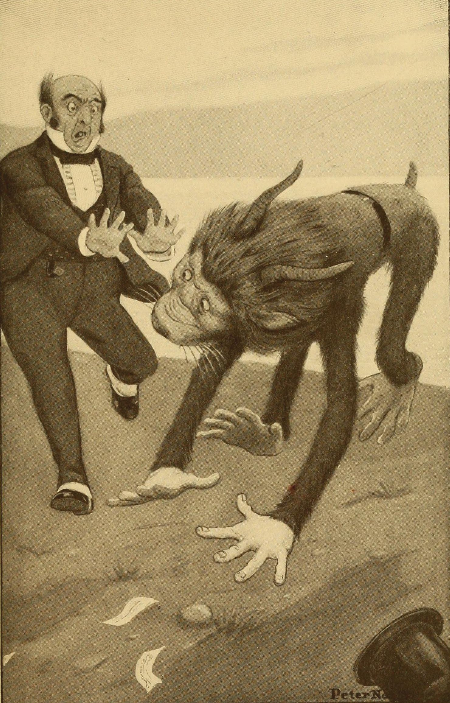 "Peter Newell Illustration for ""The Hunting of the Snark"""