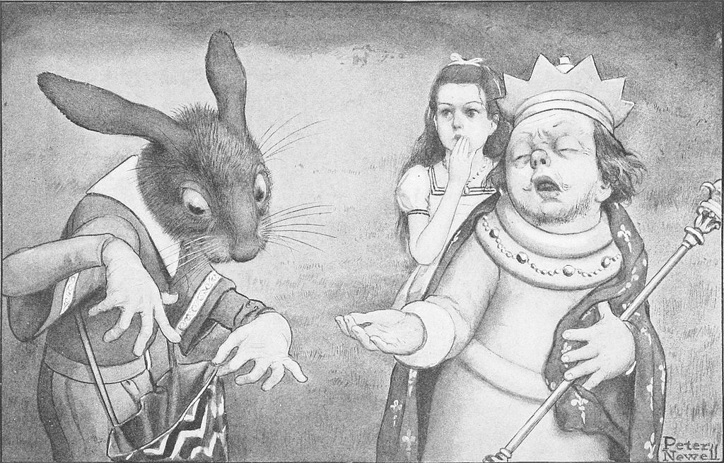 "Peter Newell Illustration for ""Alice's Adventures in Wonderland"""