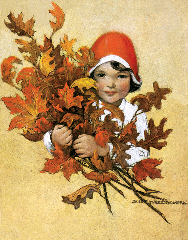 Cover Illustration by Jessie Willcox Smith for the Fall Issue of a Vintage Magazine