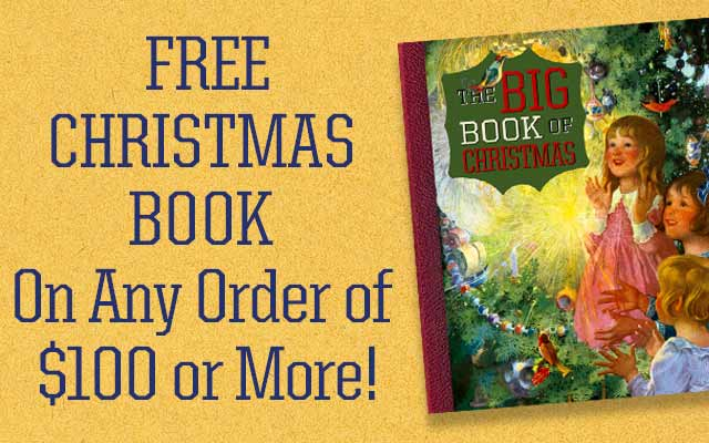 Free Christmas Book On Any Order of $100 or More!