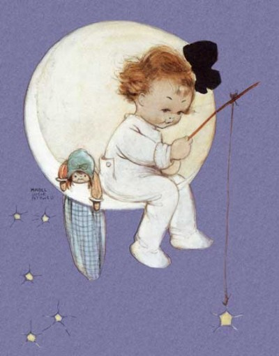 Mabel Lucie Attwell Girl In The Moon